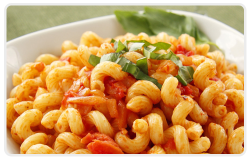 cavatappi Cavatappi with chicken and olive