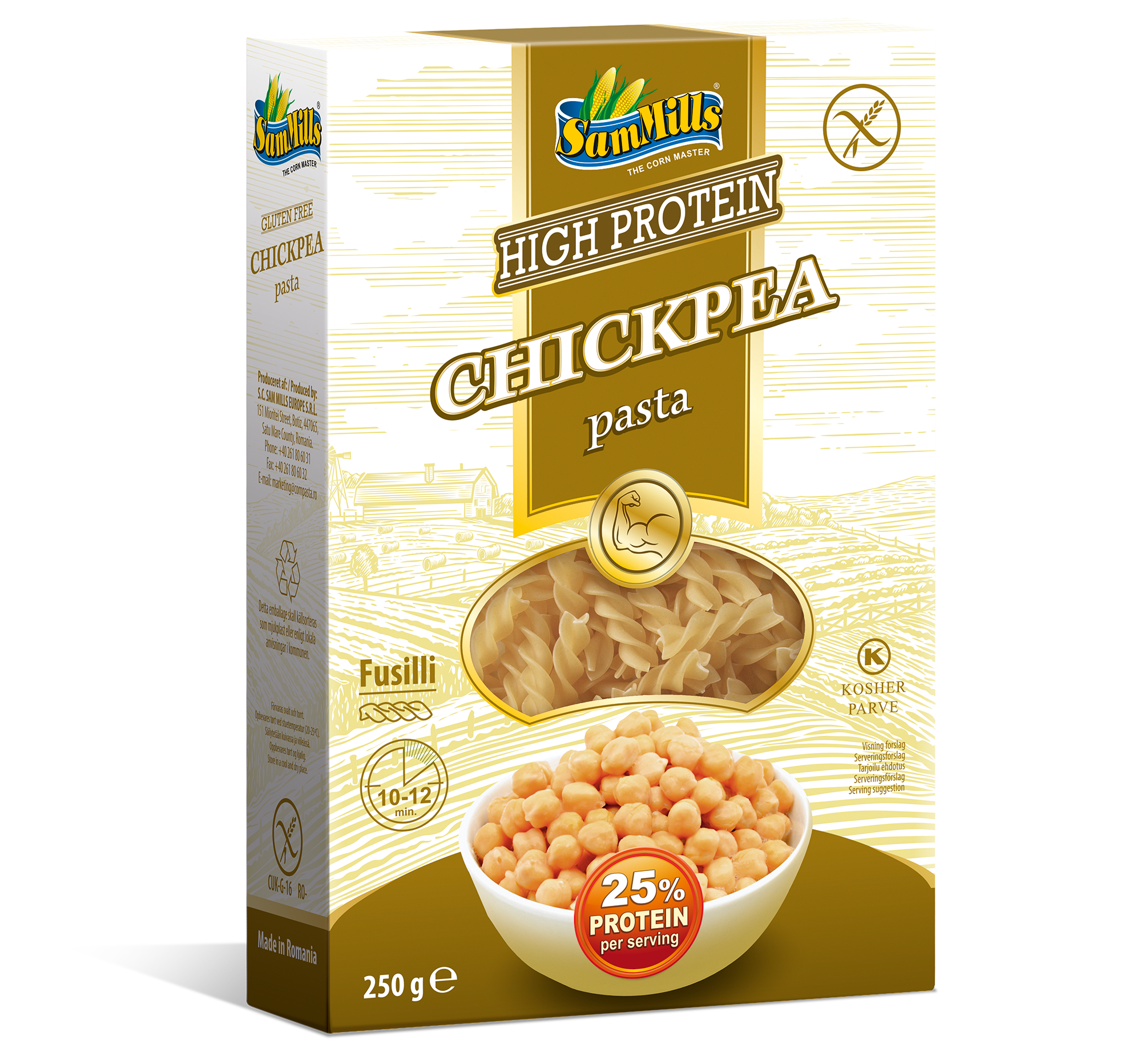 3D ChickPea Fusilli.Scan1  Products Line
