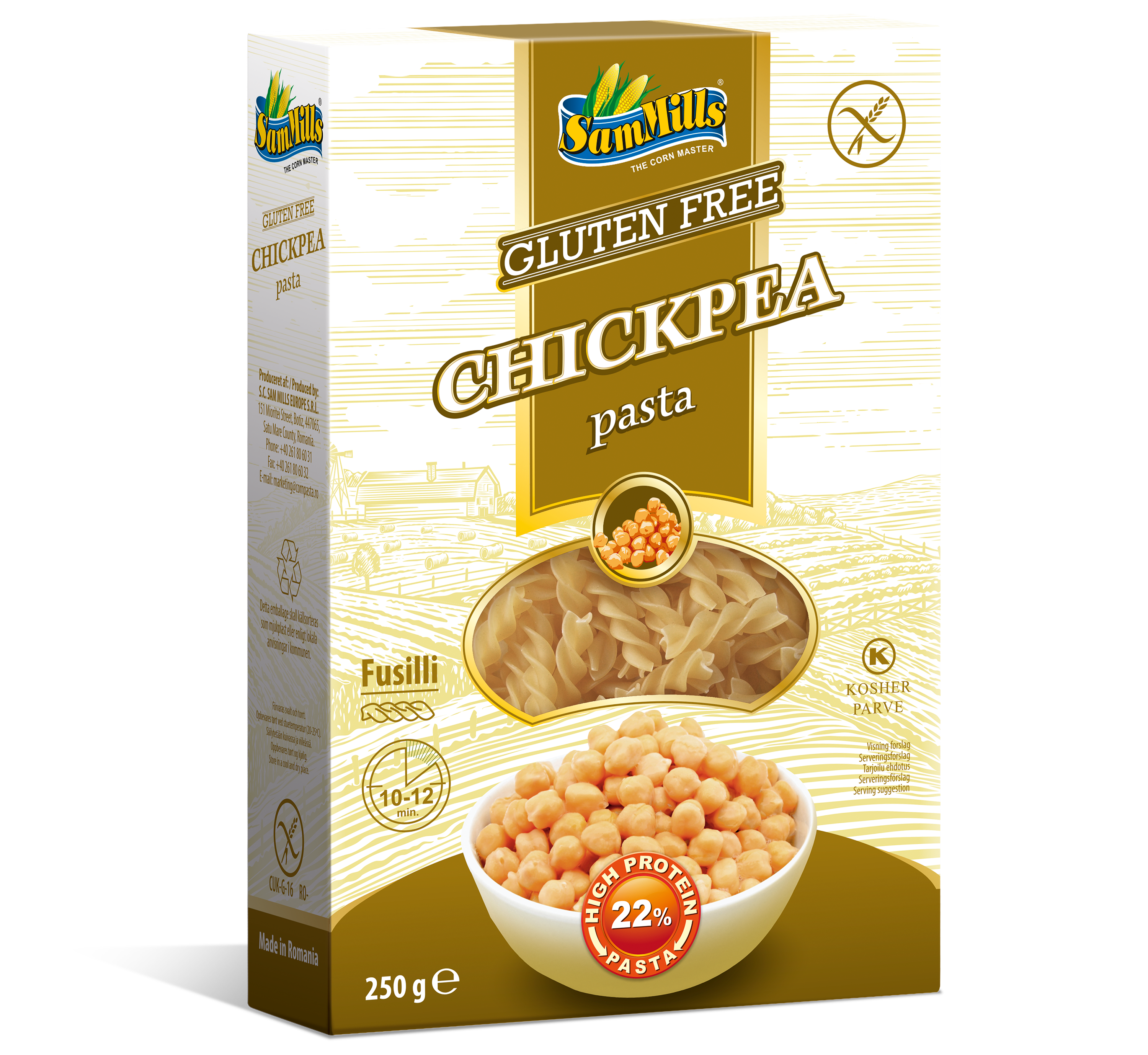 3D ChickPea Fusilli.Scan  Products Line