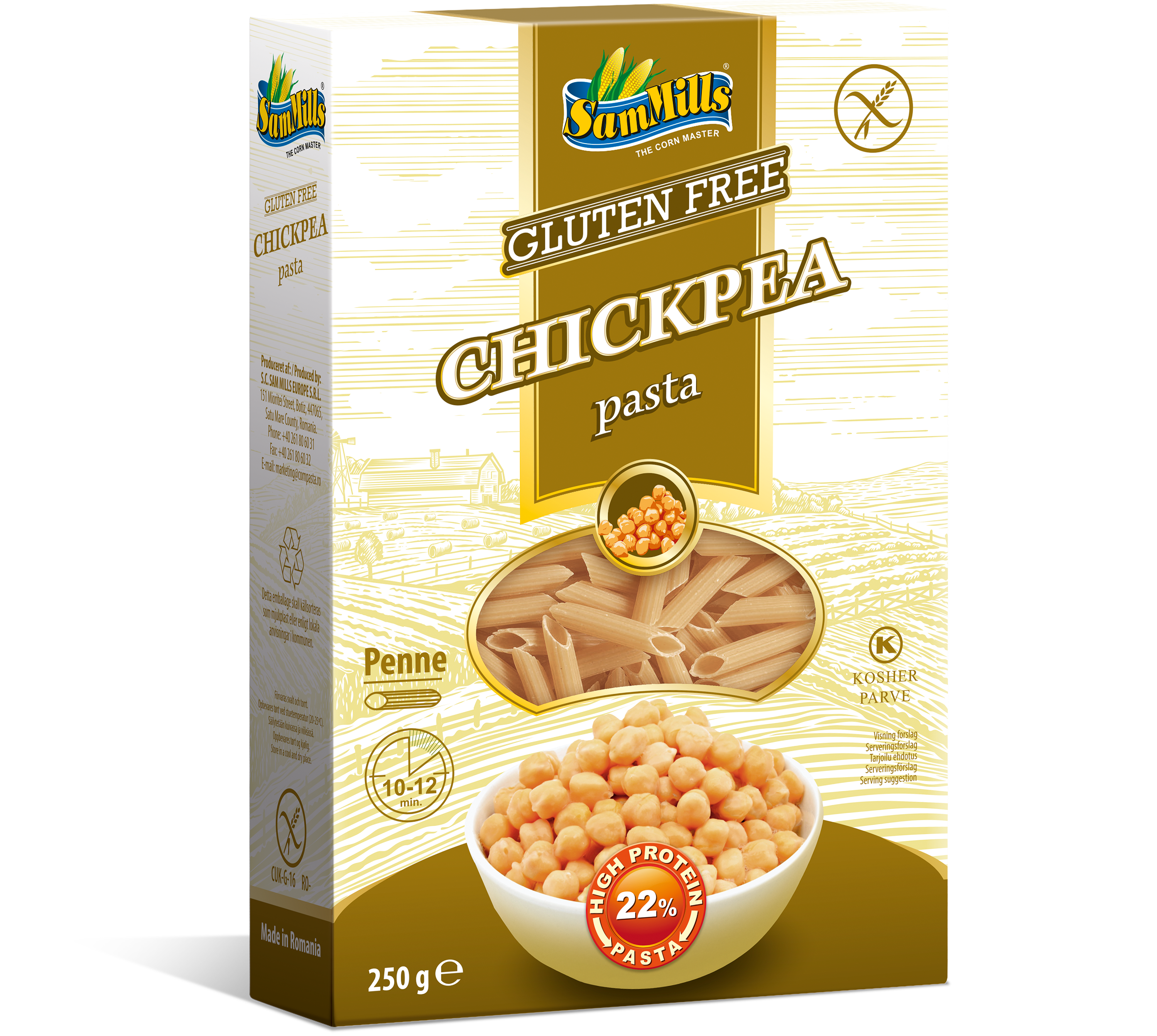 3D ChickPea Penne.Scan  Products Line