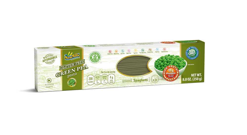 3D GreenPea Spaghetti U.S New Products Line