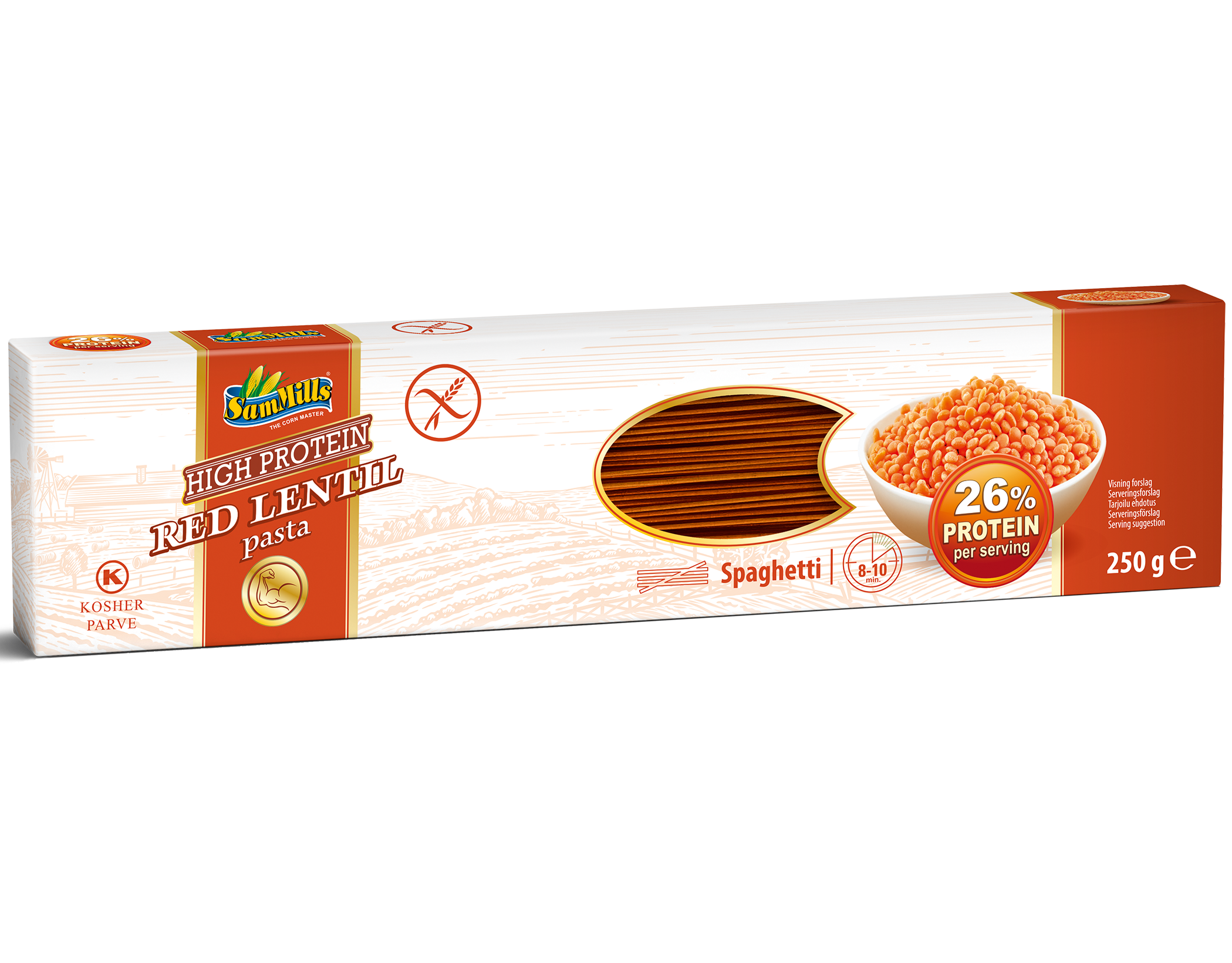 3D RedLentil Spaghetti.Scan1  Products Line
