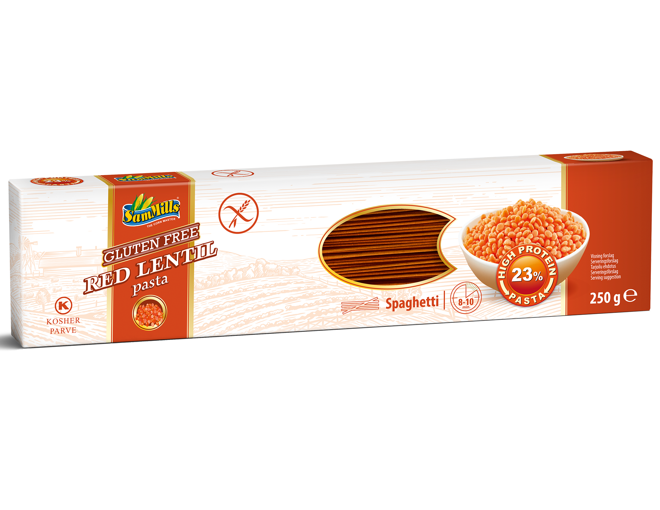 3D RedLentil Spaghetti.Scan  Products Line