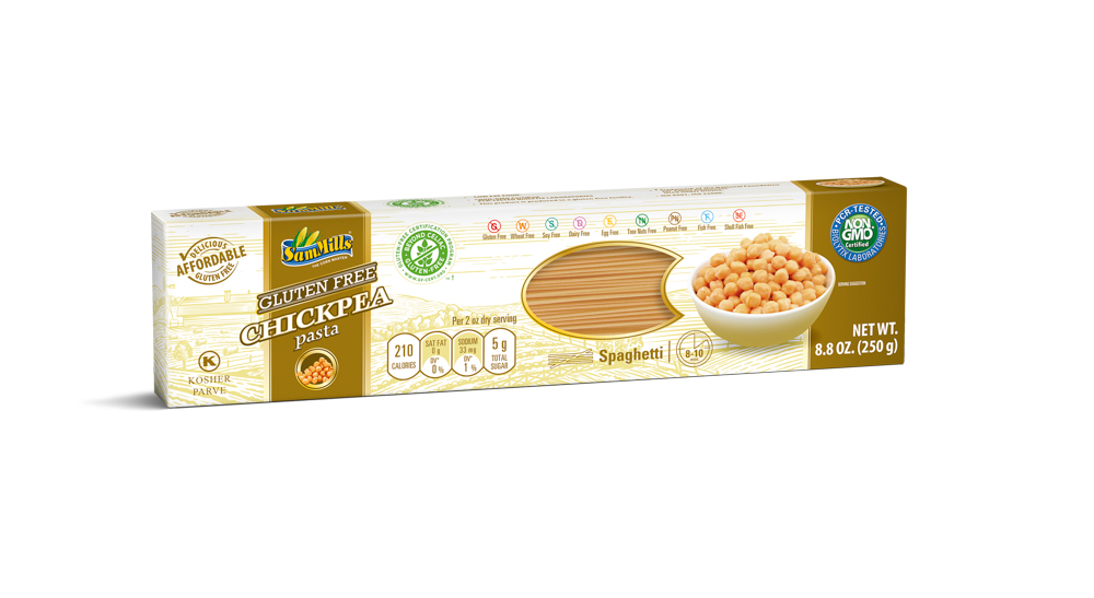 3D.ChickPea spaghetti U.S New Products Line