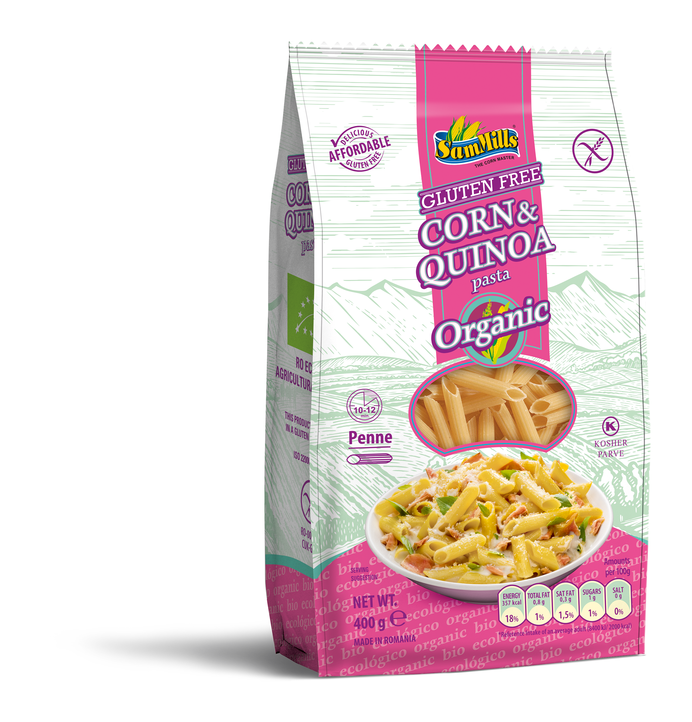 3d ORG.QUINOA.Penne .400g.E.U Products Line