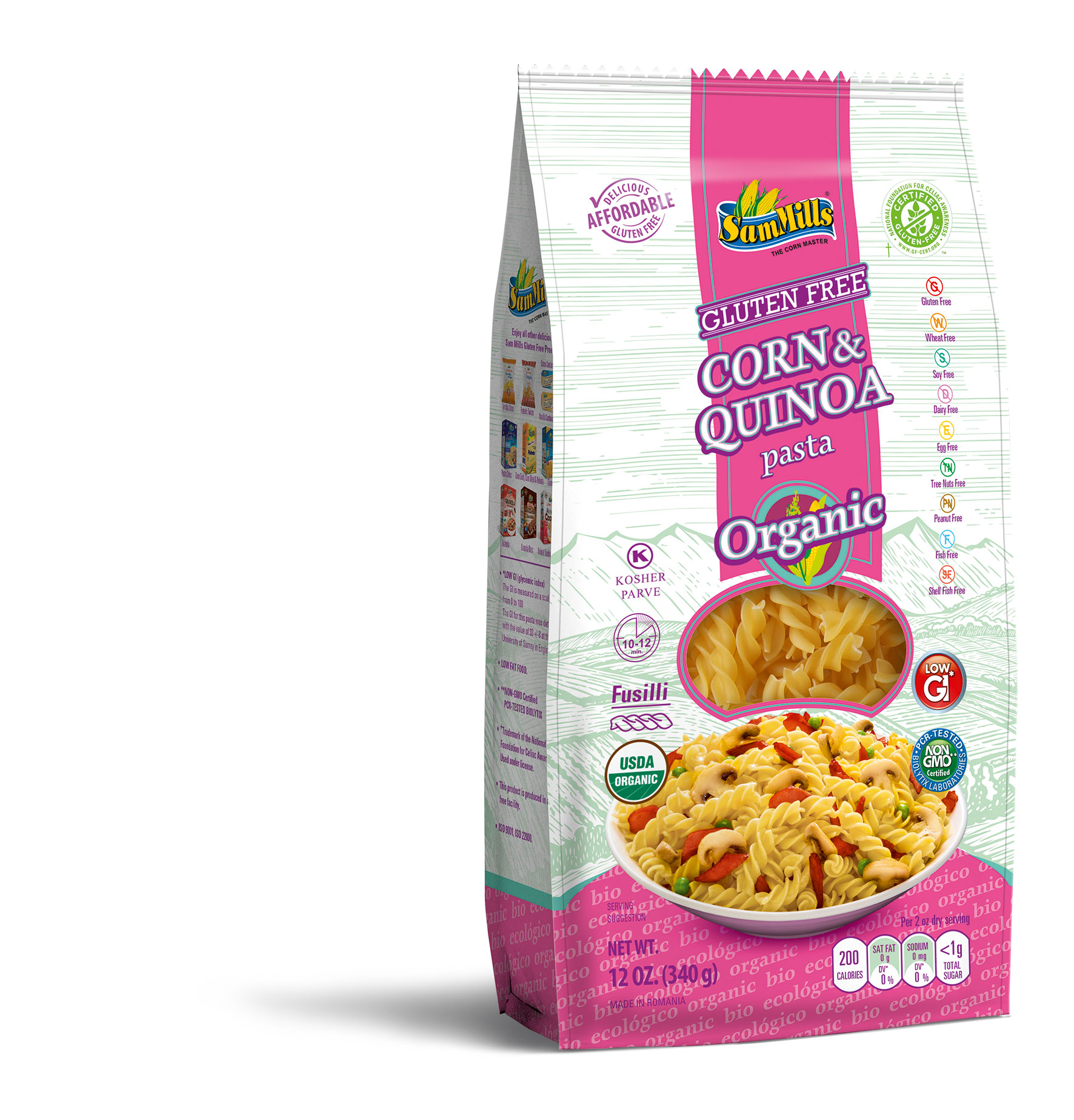 3d QUINOA ORG fusilli New Products Line