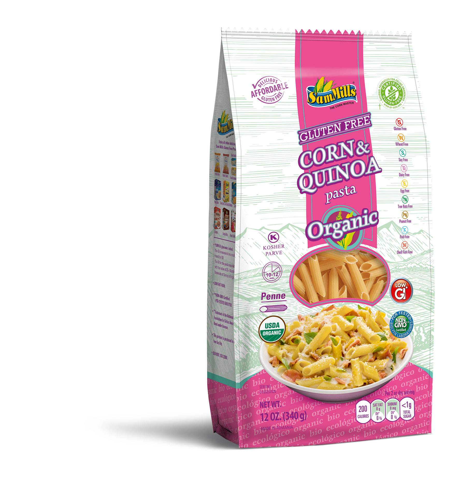 3d QUINOA ORG penne New Products Line