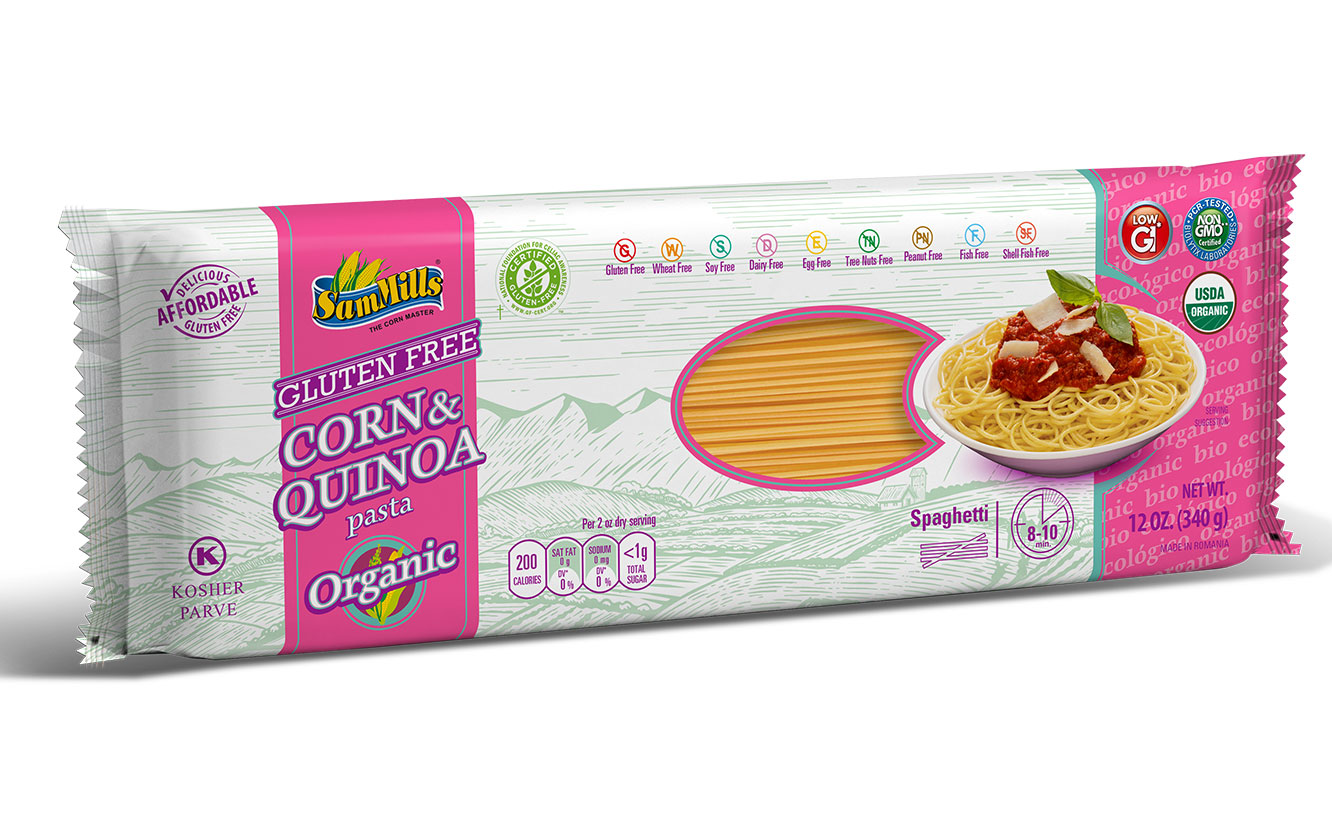 3d QUINOA ORG spaghetti New Products Line