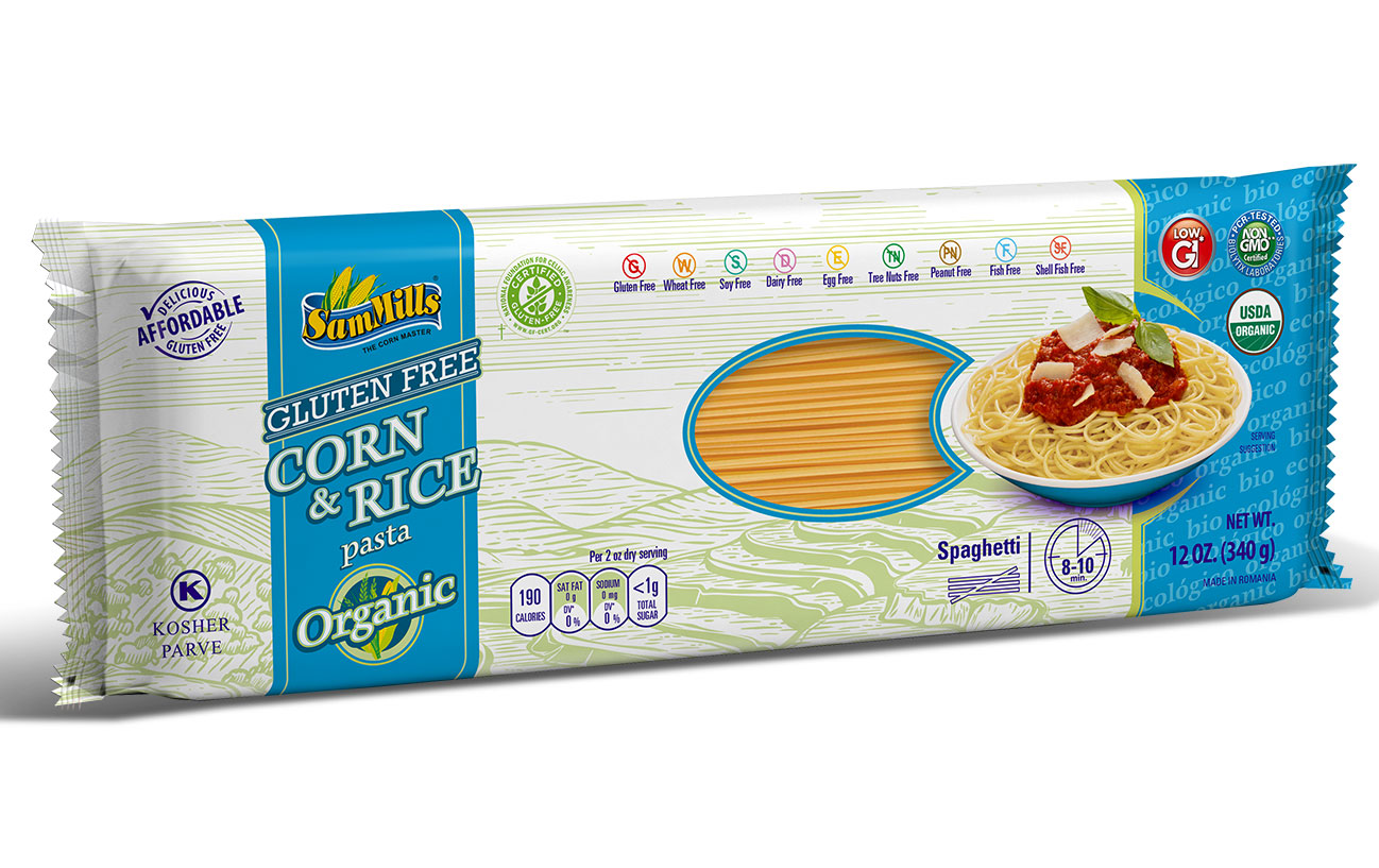 3d RICE ORG spaghetti New Products Line